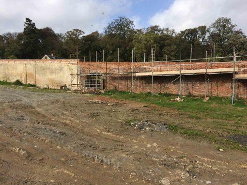 Kitchen garden and ha-ha wall restoration, Boconnoc